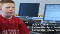 Alex, who has a learning disability, reads digital books using Kurzweil 3000