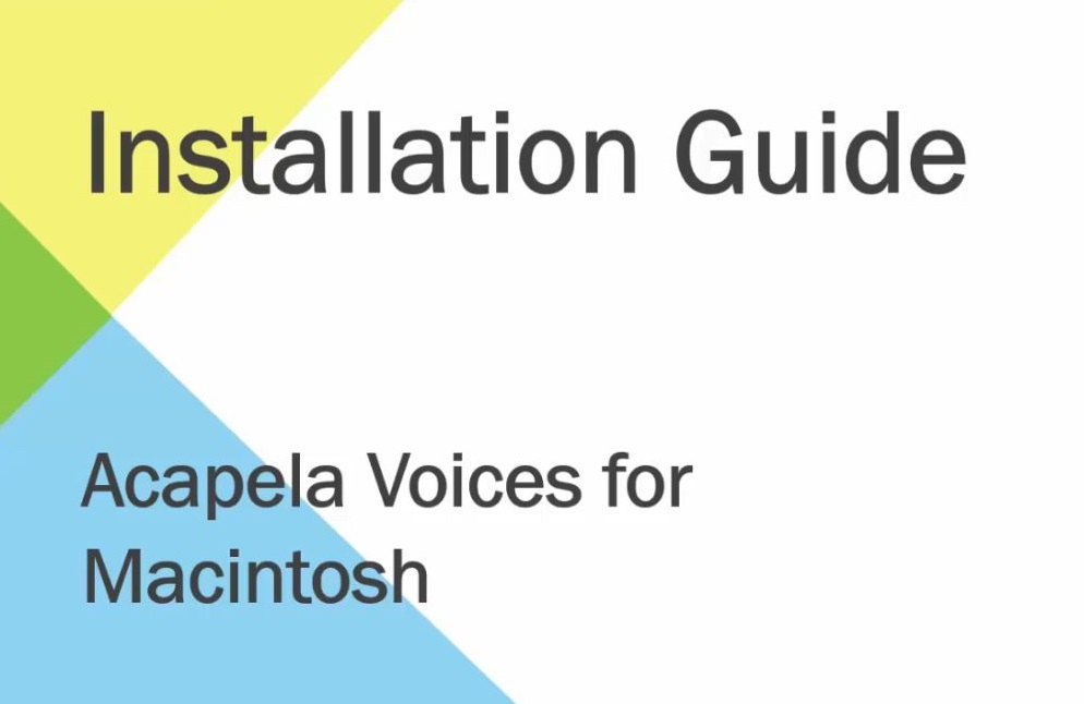 Installing Acapela Voices for Macintosh