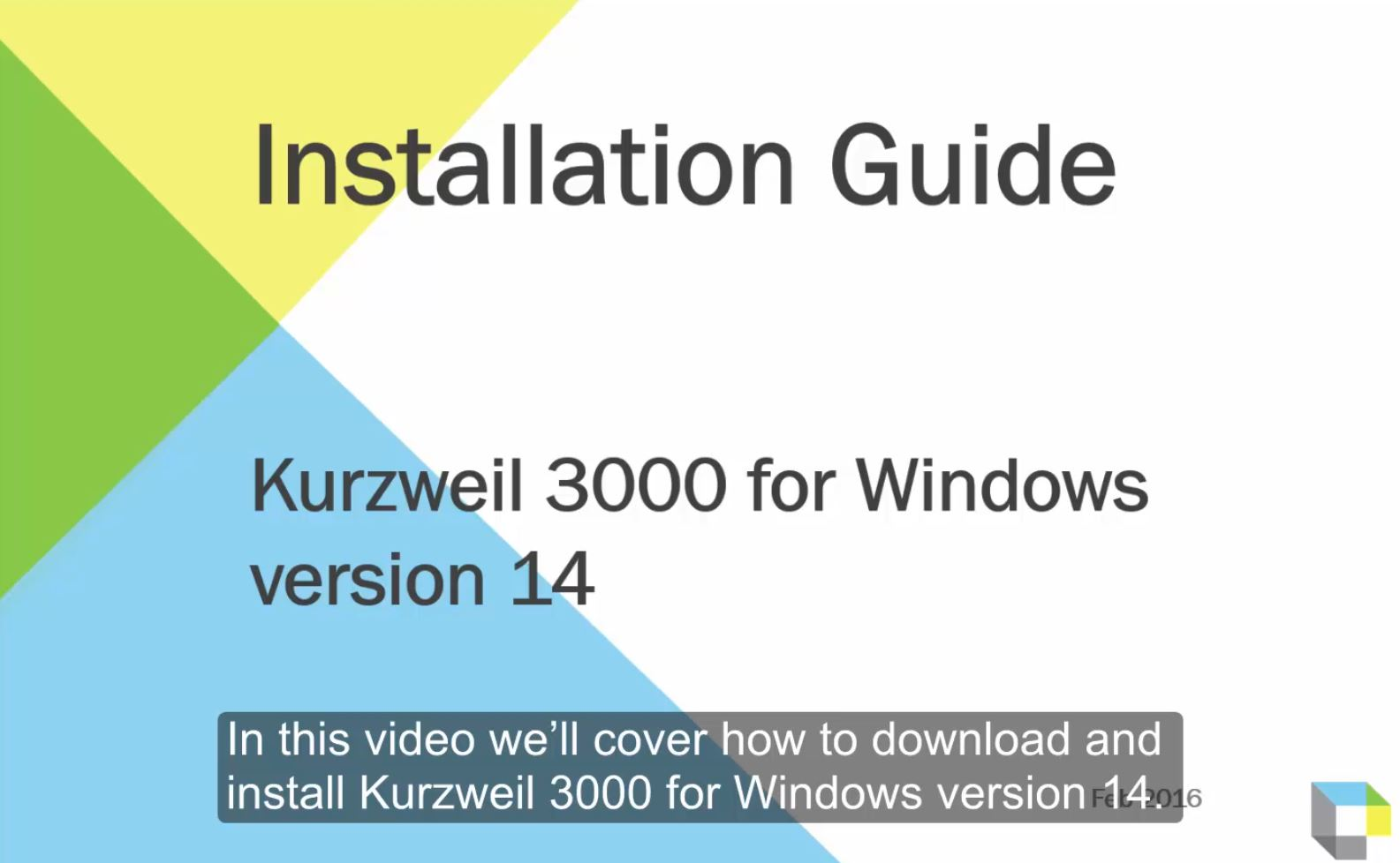 Installation of Kurzweil 3000 for Windows Walkthrough