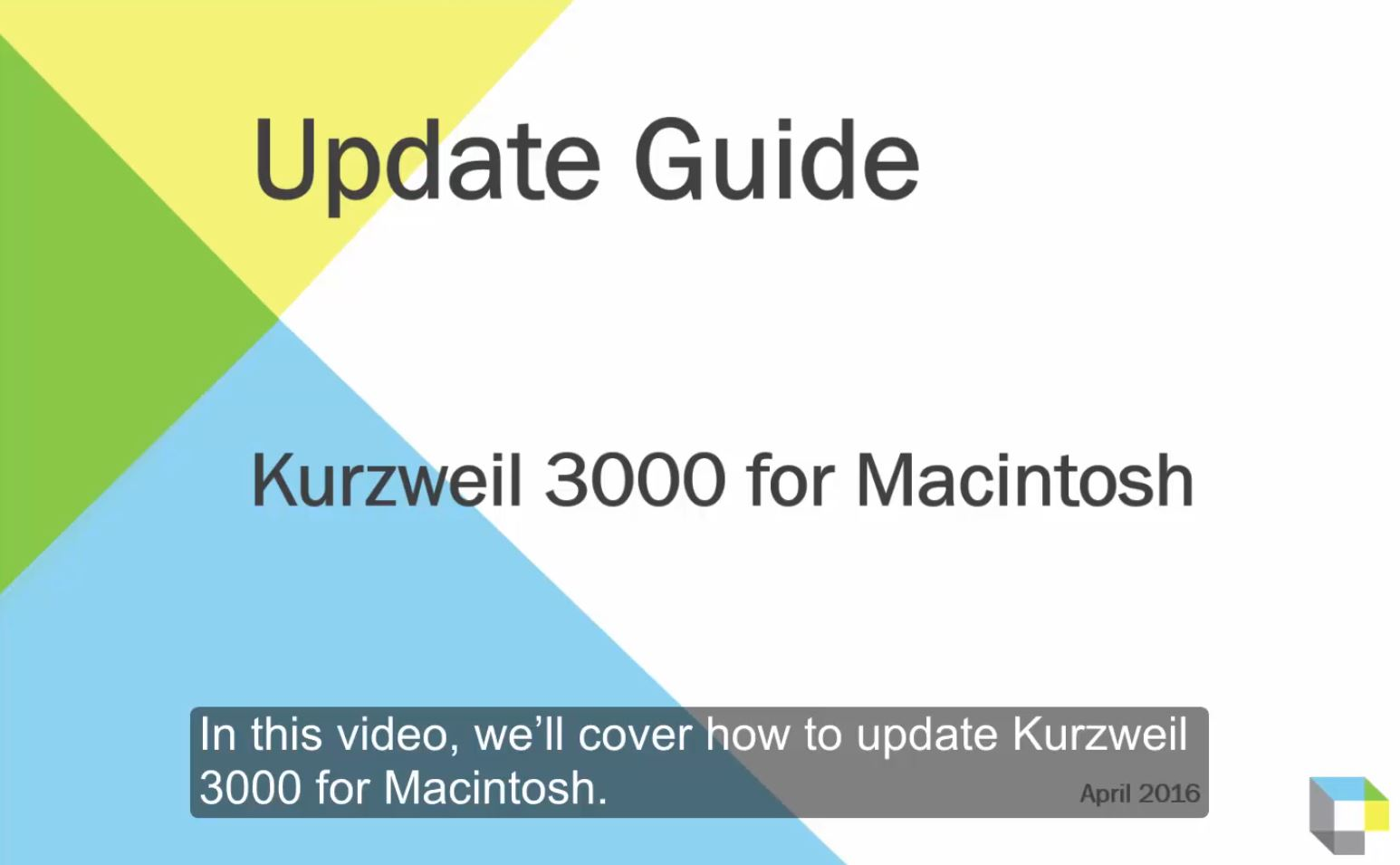 Updating Kurzweil 3000 for Macintosh